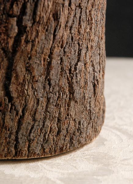 """Natural Bark Covered 10"""" Cylinder Timber Vases"""