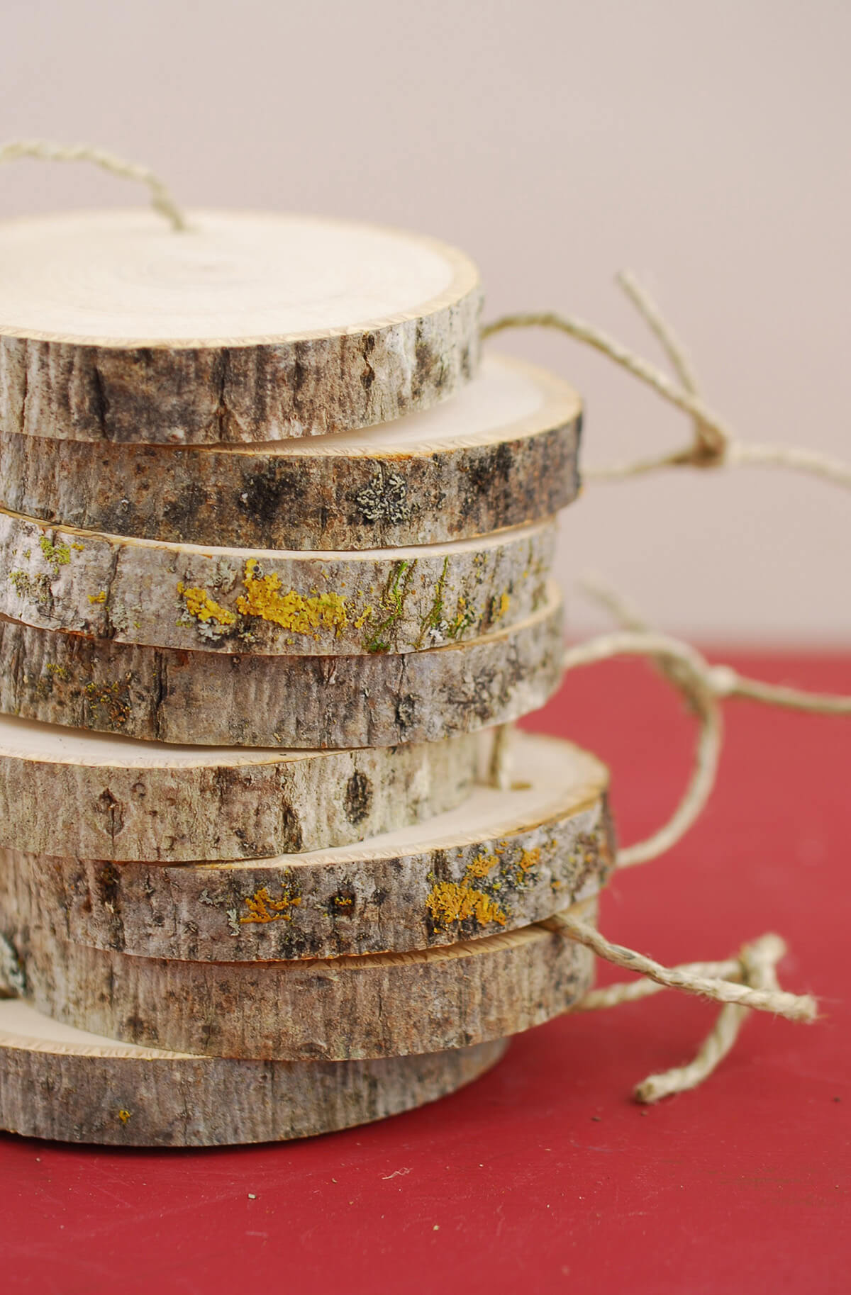 """3"""" Natural Tree Branch Circles (PACK OF 8) with String- Escort Tags"""
