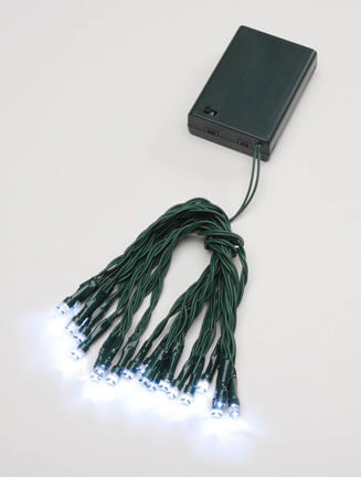 LED String Lights Green Wire Battery Operated