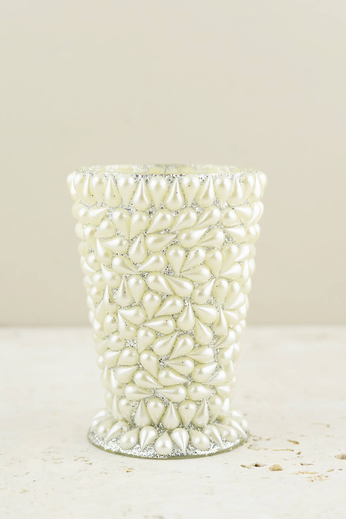 """Pearl Covered Mint Julep Vase 4.5"""""""