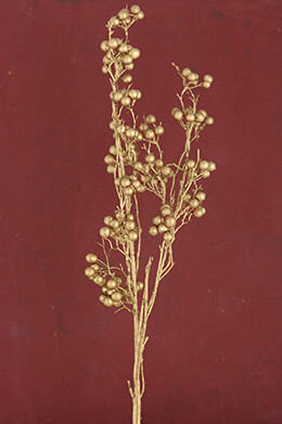 Tall Gold Berry Branch 37.5in