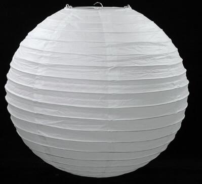 "16"" WHITE Paper Lanterns"