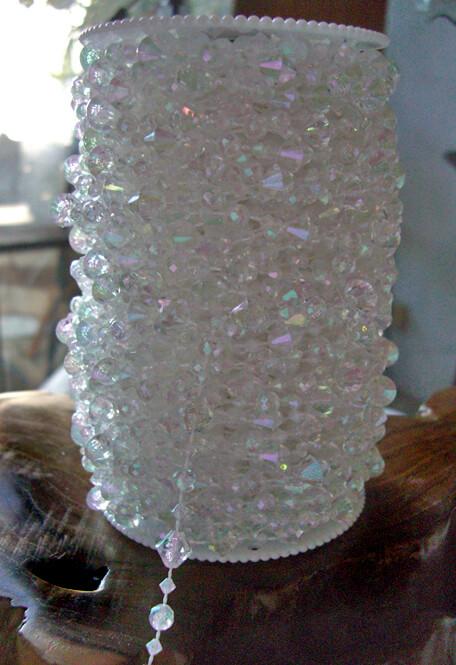 Hand Strung 99 Feet Crystal Garland Roll   Acrylic