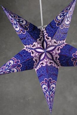 Purple & Blue Star Lanterns 24in