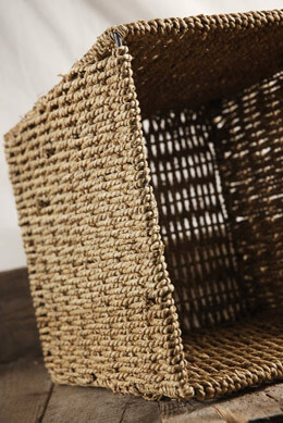 "Rope Basket 9.5"" Square"