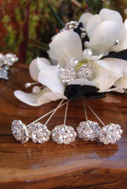 Corsage Pins Crystal 3in Pack of 5