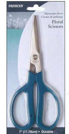 Floral Scissors 7in