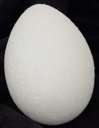 "Styrofoam Eggs 3-13/16"" X 2-13/16""- White - 2 Pieces"