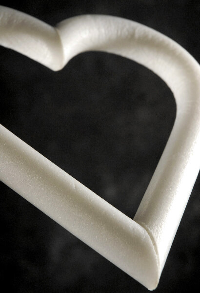 Styrofoam Heart Wreath