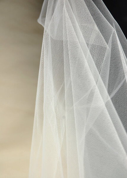 "54"" Wide Ivory Tulle Bridal Illusion 50yds (.65 /yard)"