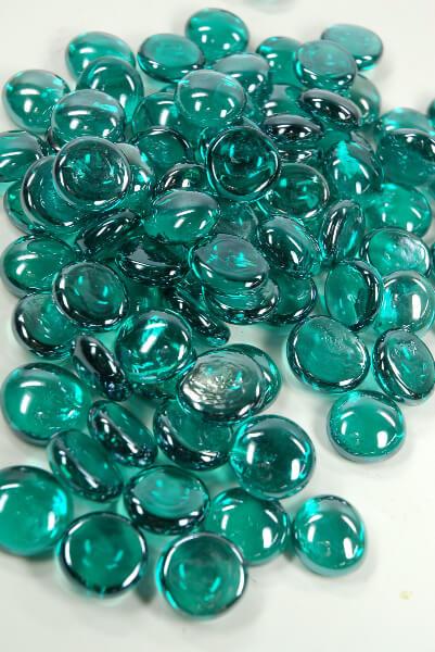 Vase Gems Teal Luster 18 Lbs