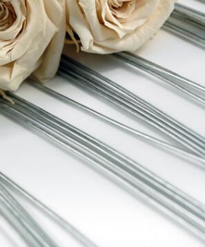 Floral Stem Wires, Bright,  20 Gauge (360 pieces)