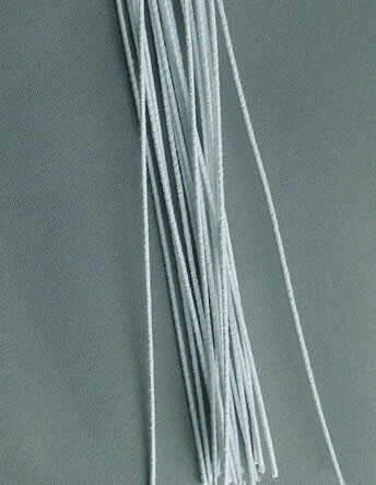 Floral Stem Wires, White Cloth Covered (240 pieces) 26 Gauge