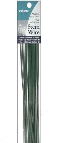 Floral Stem Wire (240 pieces) 18 Gauge, Green