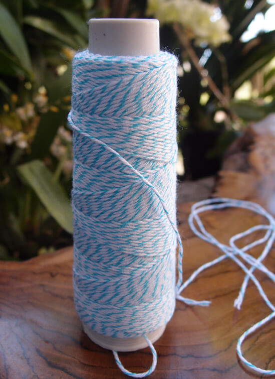 Bakers Twine Turquoise & White 100 yds