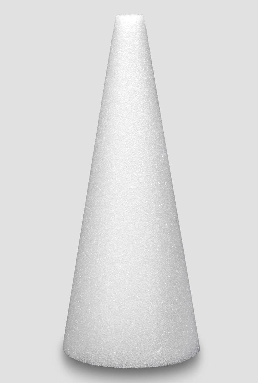 Styrofoam cone 12 x 4 white for Styrofoam forms