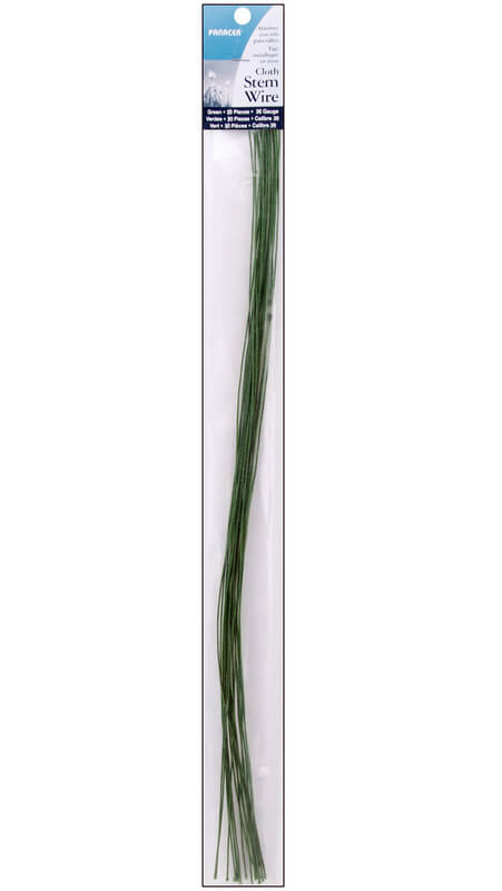 Floral Stem Wire Green Cloth Wrapped (240 pieces) 24 Gauge