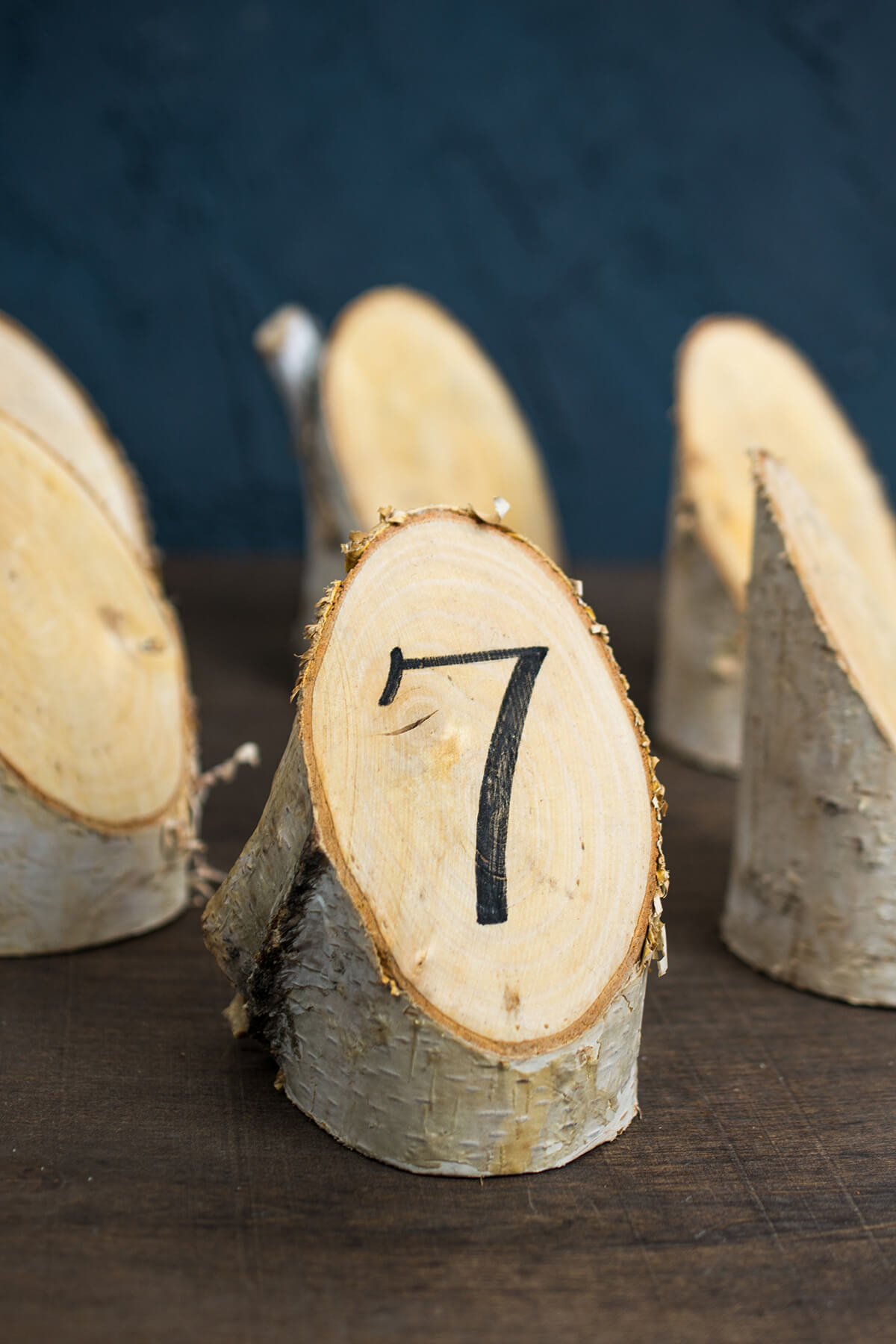 Place card holders table numbers displays birch forest placecard 6 pieces 475 natural birch reviewsmspy