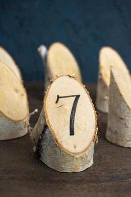 """Birch Forest Placecard (6 pieces) 4.75"""", Natural Birch"""