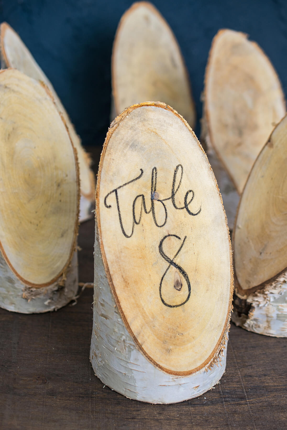 Place card holders table numbers displays birch forest placecard 6 pieces 775 natural birch reviewsmspy