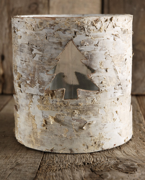 Birch Tree Pot Cover and Candle Shade 5in