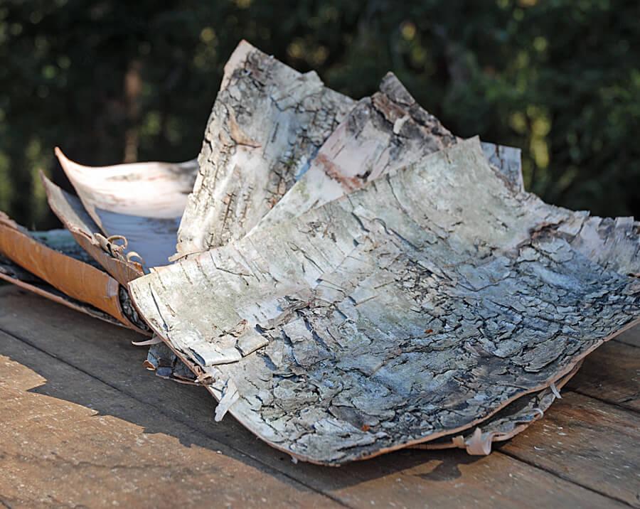 """10 Birch Bark Sheets 8"""" x 10"""""""