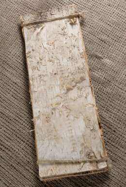 "6 Birch Bark Sheets 15"" long x 4.75"" wide"