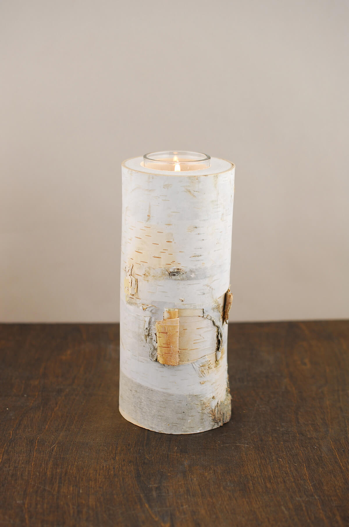 8 Quot Natural Birch Tree Branch Candle Holders
