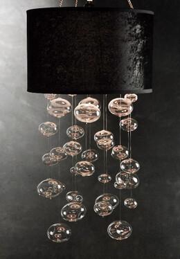 Glass Bubble Chandelier, Black