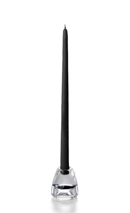 "10 Taper Candles 10"" Black"