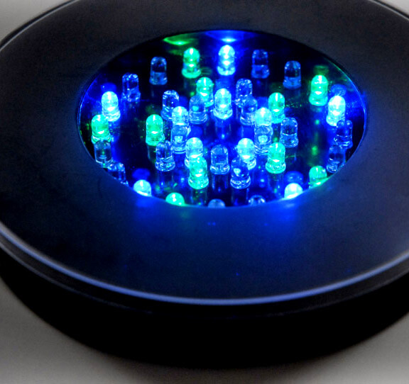 Super Bright 40 Led Light Base 6 1 4 Quot Diameter 1 Quot Height Multi Color Black Body