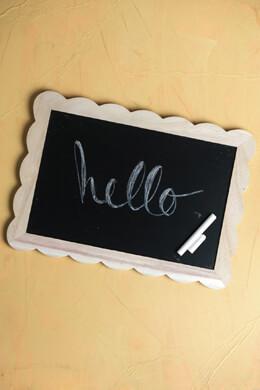 Blackboard w/Scalloped Frame 10x14in