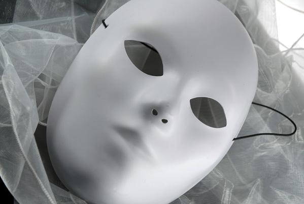 Blank White Masks Adult 8 1 2 Inch Full Mask Primed