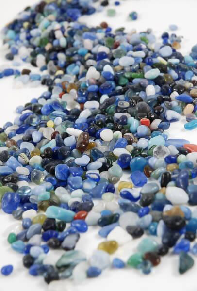 Ocean Blue Glass Pebbles 46 oz.