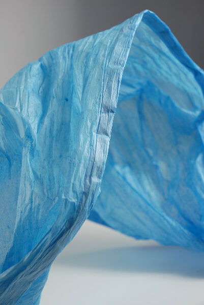 "Blue Paper Garlands Rolls 18"" x 5 yards"