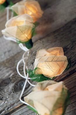 Bodhi Leaf Natural Rose String Lights 8 Foot