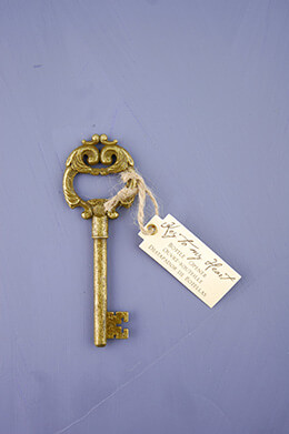 Key to My Heart Bottle Opener, Antique Key, Wedding Favors
