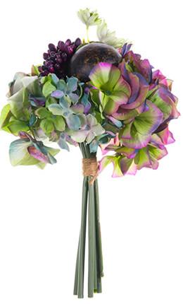 Hydrangeas flowers dried preserved silk tropical beach wedding bouquet green hydrangea sedum coconut altavistaventures Image collections