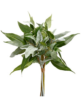 "Artificial Flocked Lamb's Ear and Eucalyptus Bundle in Two Tone Green 18"" Tall"