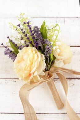 Ranunculus & Lavender Silk Bouquet
