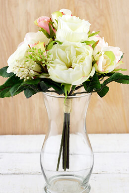 Cream & Pink Rose Wedding Bouquet