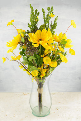 """Black Eyed Susans & Morning Glory Bouquet  24"""" Tall"""