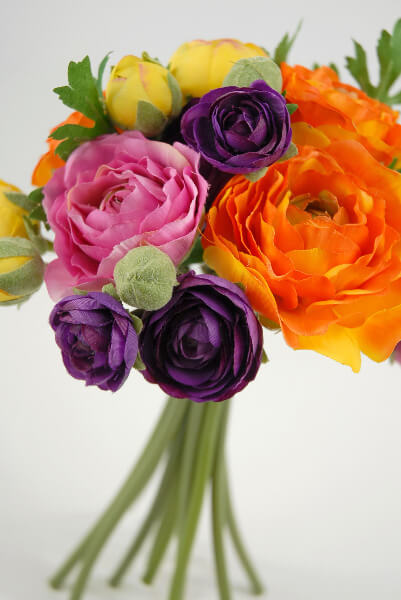 Ranunculus flower bouquet quot orange purple yellow
