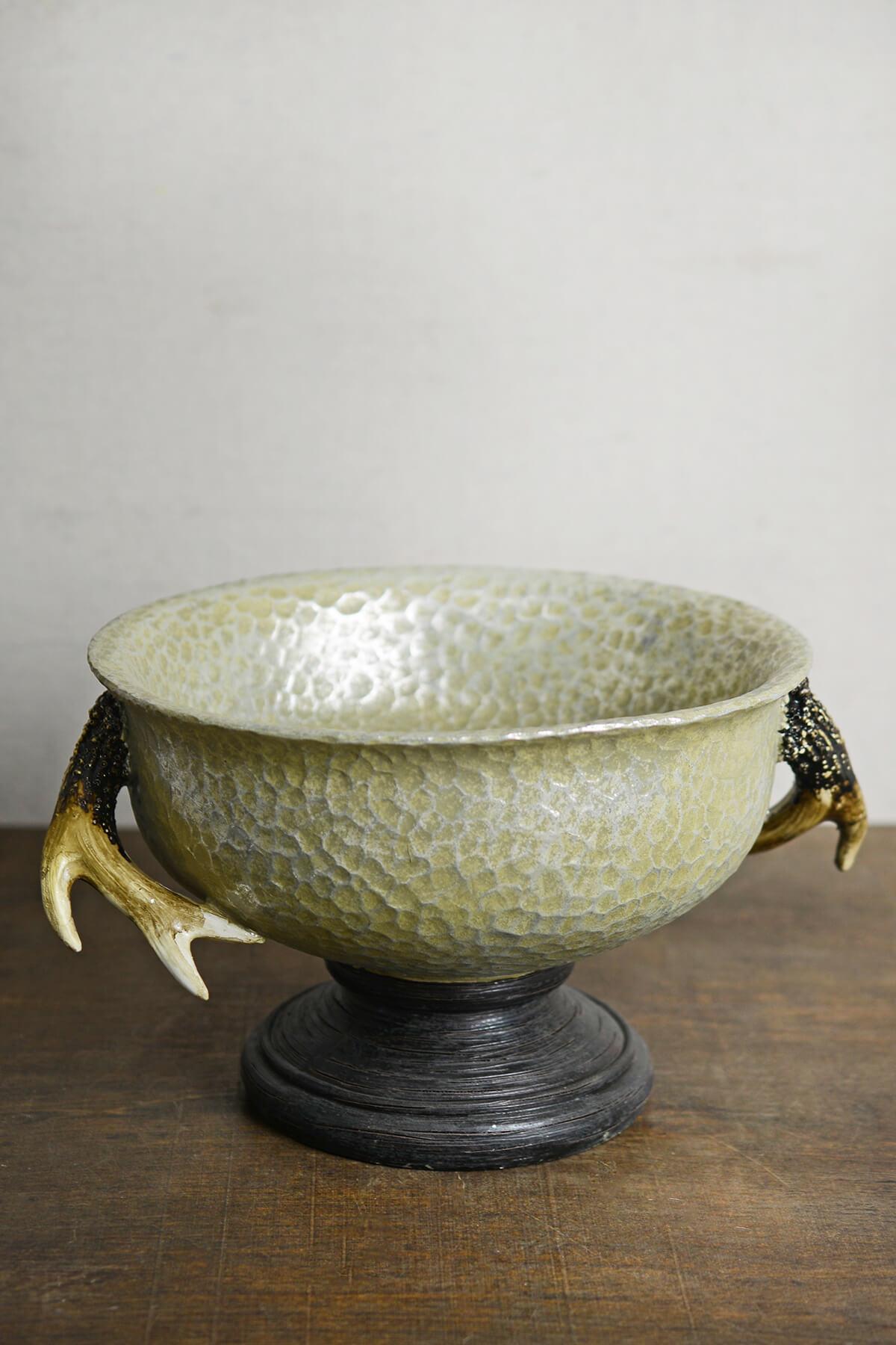 Antler Pedestal Bowl