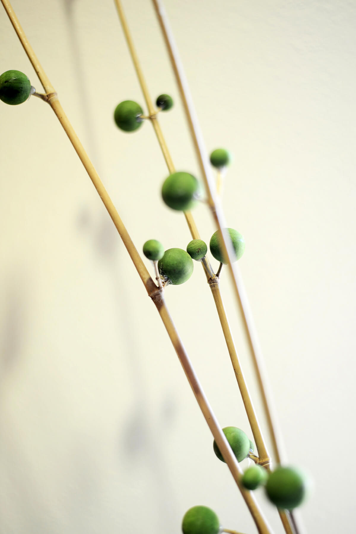 3 Bamboo Berry Branches Green 42""