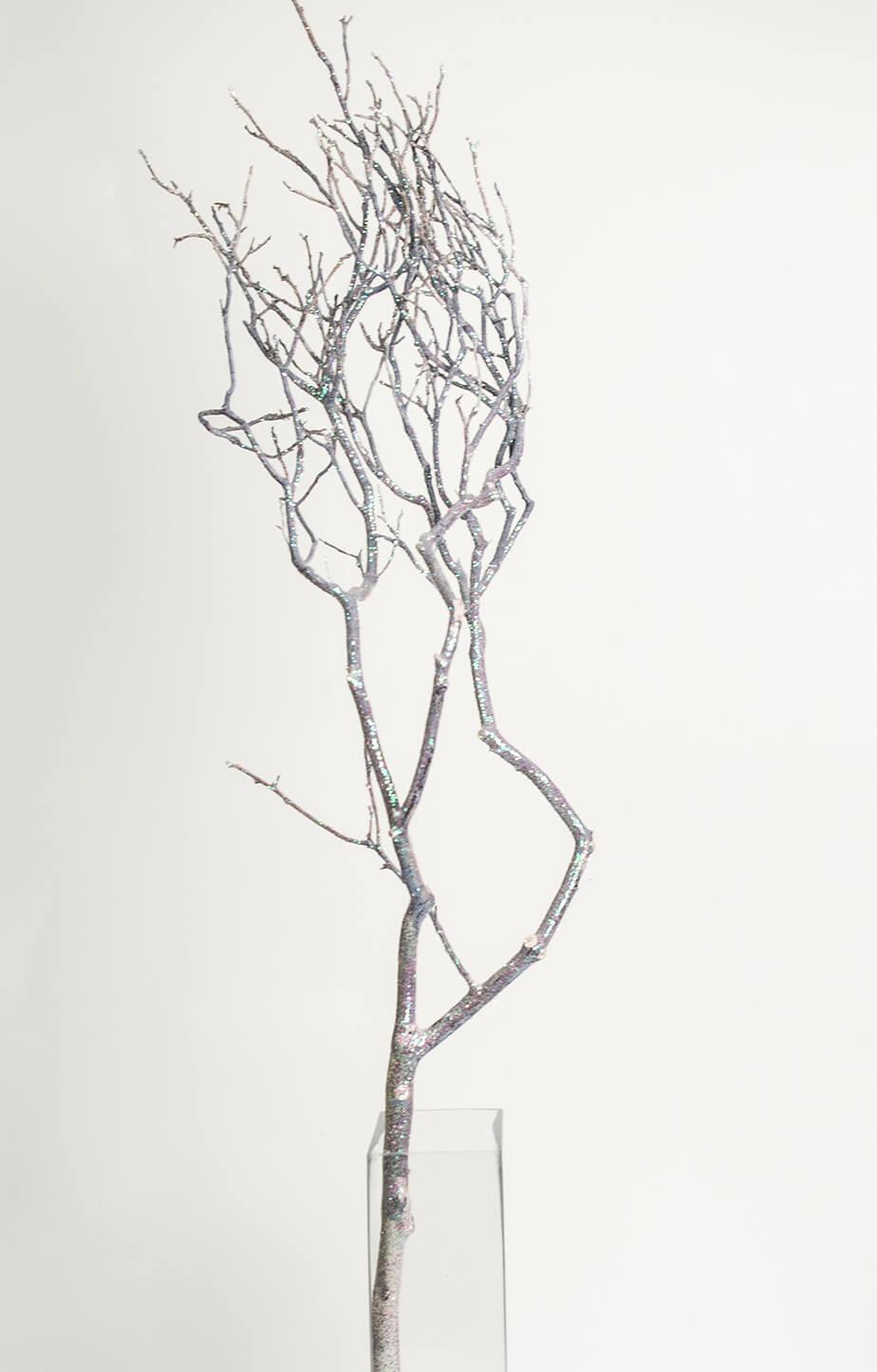 Extra Tall Iridescent Glitter Natural Manzanita Branches 36-52in