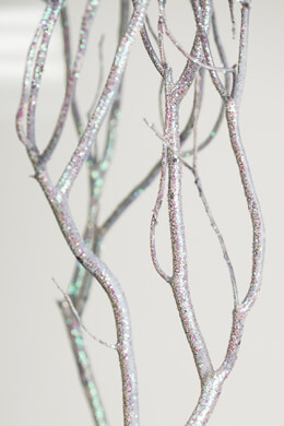 Extra Tall Iridescent Glitter Natural Manzanita Branches 36-52in