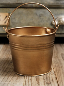 Antique Brass 4 Bucket With Handle