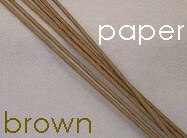 Stem Wires Brown Paper Wrapped, 72 Pieces, 18 gauge