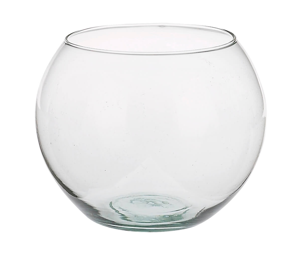 Clear Glass Round Vase